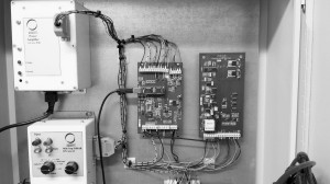 Control Unit for MiniSODAR, showing simplicity of the electronics, leading to low power consumption and high reliability.