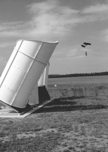 SODAR used for wind assesment for safety in parachute training.