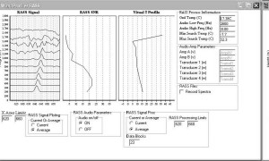 EM Sounder Software (Windows) in RASS mode showing temperature profile.